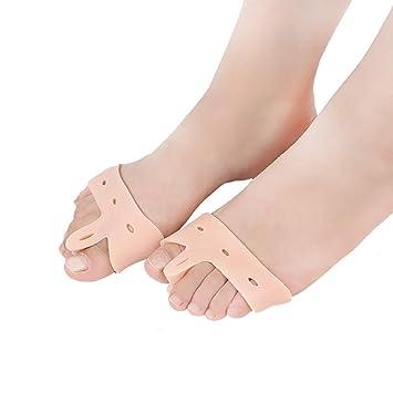 STEERI Separadores de Dedos, Corrector de juanetes, Almohadillas de Gel para el Cuidado de