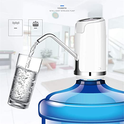 Kbxstart Electric Bottled Water Dispenser Pump Wireless USB Drinking Water Bottle Suction Mini Dispensador De Agua Fria Electric (A, Gold) - - Amazon .com
