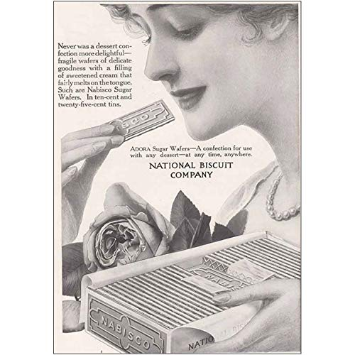 - RelicPaper 1915 Nabisco: Adora Sugar Wafers, National Biscuit Company Print Ad