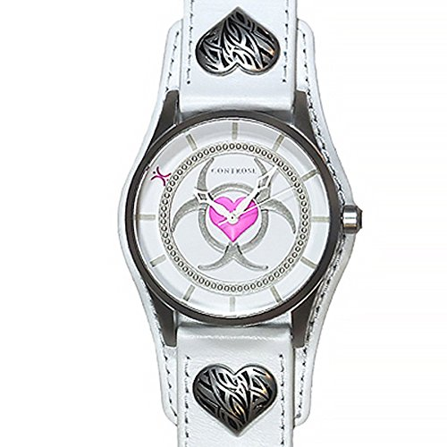 Controse Toxic Love Watch (Heart Dial Silver Cuff Watch)