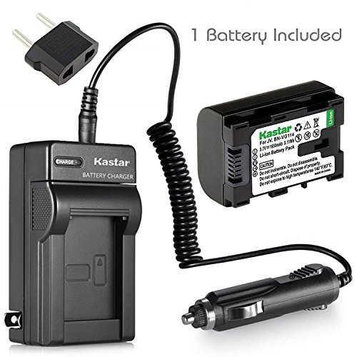 Kastar BN-VG114 Battery (1-Pack) and Charger Kit for JVC BN-VG107 BN-VG107U BN-VG108U BN-VG108E BN-VG114 BN-VG114U BN-VG114US Rechargeable Lithium-ion Battery (Everio Jvc Camcorder)