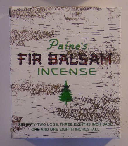1 X 72 Balsam Logs - Paine's Fir Balsam Incense