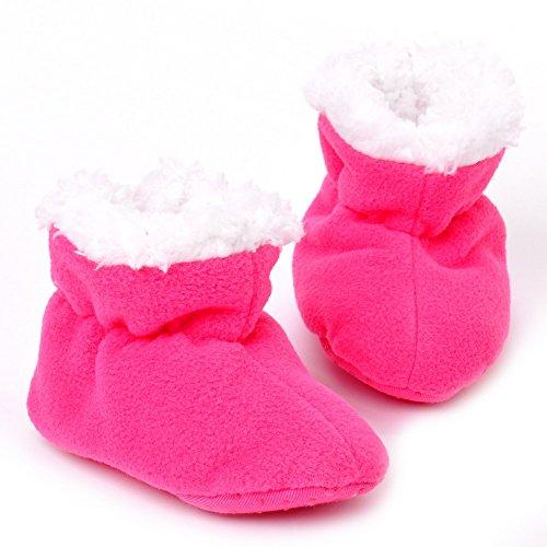 Estamico cálido primer Walking zapatos de bebé suave suela botas azul azul Talla:12-18 meses rosa (b)