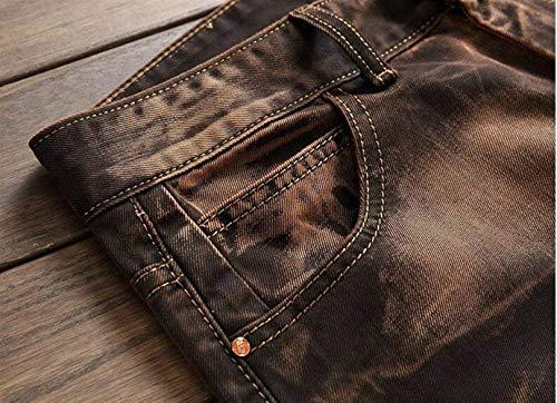 Estilo Jeans Da Straight Pantaloni Slim Tide Moda Pants New Denim Original Uomo Tempo Classic Especial Libero Bronze Retro vFXqvpr5