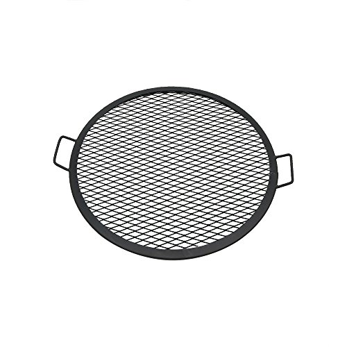 (Sunnydaze X-Marks Fire Pit Cooking Grill Grate, Outdoor Round BBQ Campfire Grill, Camping Cookware, 24 Inch)