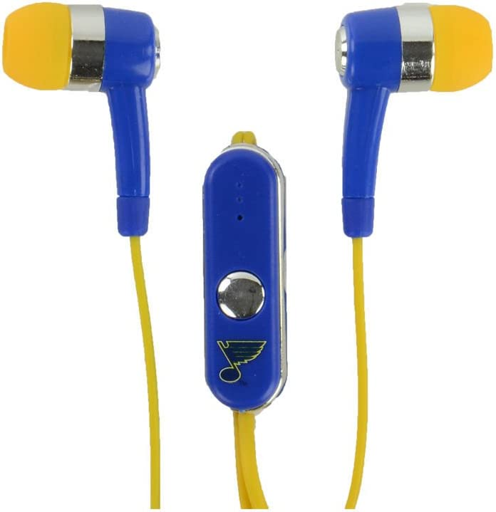 NHL St Louis Blues Hands Free Ear Buds with Microphone