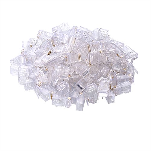 Sienoc 100PCS RJ45 CAT5 CAT5E Crystal Network Modular Connector Plug 8P8C ()