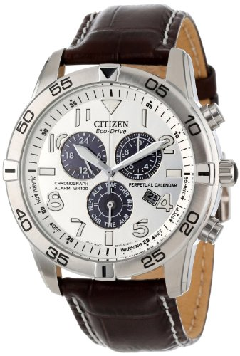 Mens Watch Citizen BL5470-06A Stainless Steel Case Eco-Drive Chronograph Alarm