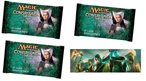 Magic The Gathering Draft (Conspiracy Booster Draft Set - Player Multiplayer-Focused Fun: Magic: the Gathering: 3 Booster Packs)