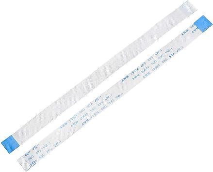 Tipo A sourcing map Cable Plano Flexible 12 Pines 0,5 mm de Paso 150mm Cable de Cinta FPC FFC 5uds