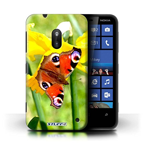 Kobalt® Imprimé Etui / Coque pour Nokia Lumia 620 / Papillon conception / Série floral Fleurs