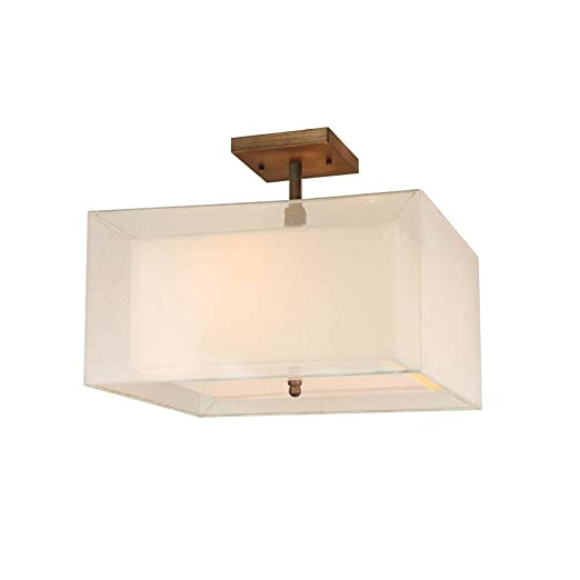 Amazon com hampton bay angelina collection 3 light semi flushmount electronics
