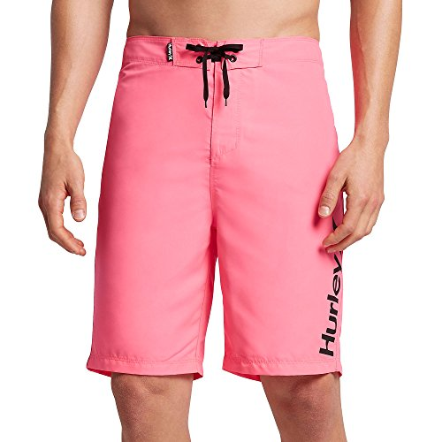 [Hurley Men's One & Only 2.0 Boardshorts, Neon Pink, 33] (Pink Man Suit)