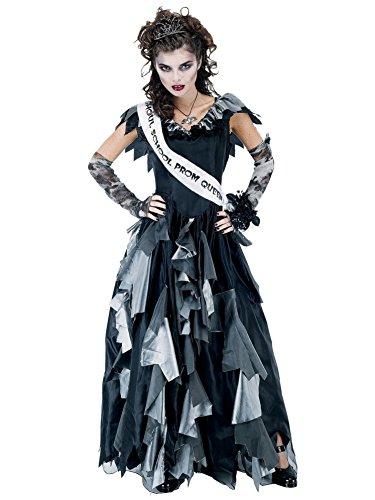 [Paper Magic Zombie Prom Queen-2 Costume, Black/Gray, One Size] (Zombie Queen Costumes)