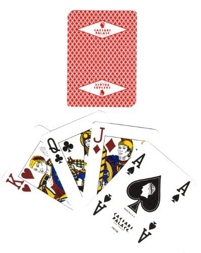 Cancelled Casino - Casino Playing Cards - 2 RARE CAESARS PALACE (Diamond Logo) WITH ROMAN EMPIRE FACE CARDS + 2 JOKERS