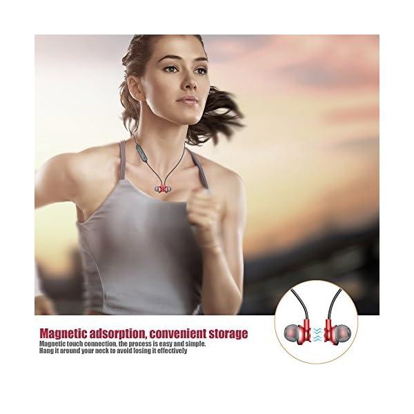 Bluetooth Headphones LEYOUDY Wireless Headphones Bluetooth V41 Magnetic Earbuds With Mic Sport Stereo Headset Sweatproof Earphones