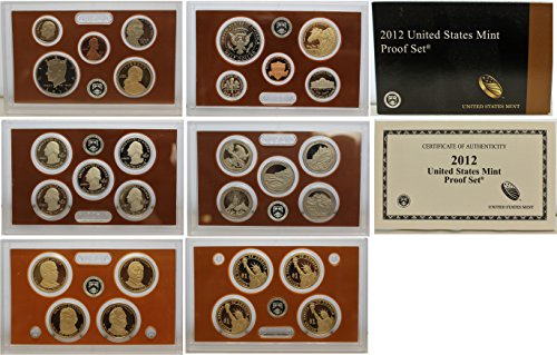 - 2012 United States 14-coin Proof Set - OGP box & COA