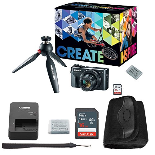Canon G7x Mark II Video Creator Kit + Canon PowerShot g7 x Mark II Advanced Accessory Bundle – Including EVERYTHING You Need To Get Started For Sale