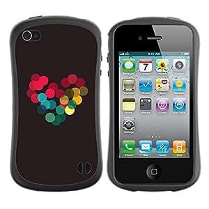 "Hypernova Slim Fit Dual Barniz Protector Caso Case Funda Para Apple iPhone 4 / iPhone 4S [Colores vibrantes brillante amor novia""]"