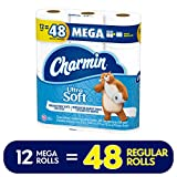 Charmin Ultra Soft Toilet Paper, 12 Mega Rolls (Equal to 48 Regular Rolls)