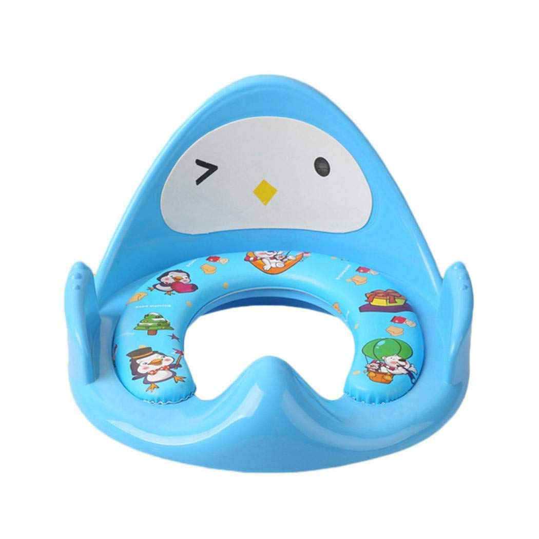 Hotstyp Potty Training seat for Kids Cute Cartoon WC Toilet seat Covers Baby Convenient mat Child backrest Toddlers Toilet Training seat