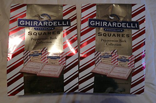 (Ghirardelli Chocolate Squares Holiday Peppermint Bark Collection 16.07 oz (Pack of 2))