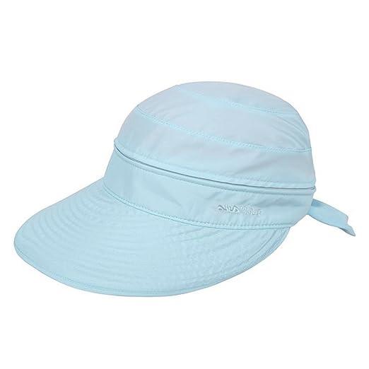 LABANCA Womens Sun hat Bowtie Sun Visor Sun Visor Wide Brim 2 in 1 Summer  Sun 18c7c37d719