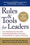 img - for Rules & Tools for Leaders: From Developing Your Own Skills to Running Organizations of Any Size, Practical Advice for Leaders at All Levels book / textbook / text book