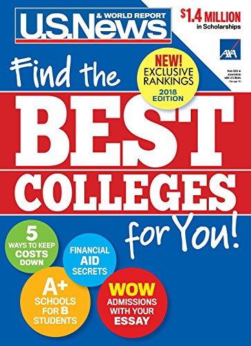 Best Colleges 2018: Find the Best Colleges for You! cover