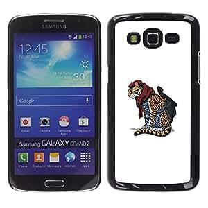 Stuss Case / Funda Carcasa protectora - Cheetah Warrior - Cool Cat Cute Funny Animal - Samsung Galaxy Grand 2