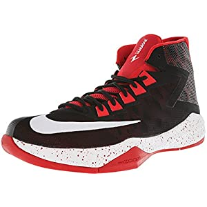 NIKE Men's Zoom Devosion Basketball Shoe (10, Black/White/University Red)