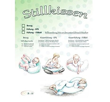 60x50cm Fillball EMI/&SAM Stillkissen F/üllung FillBall EPS Lagerungkissen Stillkissenbezug