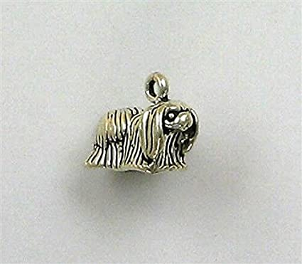 Amazon Com Sterling Silver 3 D Pekinese Dog Charm Jewelry Making