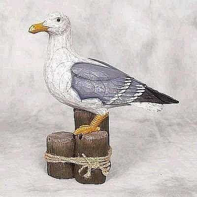 ROOSTER STANDING RESIN GARDEN STATUE WITH CARVED DRIFTWOOD LOOK NEW FREE SHIP