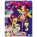 My little pony - equestria girls : poupée et poney fluttershy - rainbow rocks