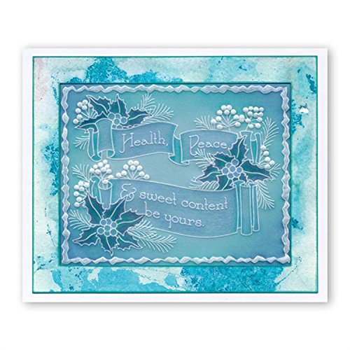 Groovi Claritystamp ~ Woven Wreath Plate A4 Square, GRO40432