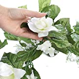 Artificial White Rose, Stephanotis, Baby's Breath, and Madonna Lily Bloom Floral Garland for Home Decor and Designing