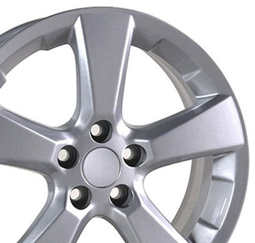 (OE Wheels 18 Inch Fits Lexus ES GS HS IS LS RX SC Toyota Avalon Camry Matrix Rav4 Sienna RX 330 Style LX03 Painted Silver 18x7 Rim Hollander 74171)