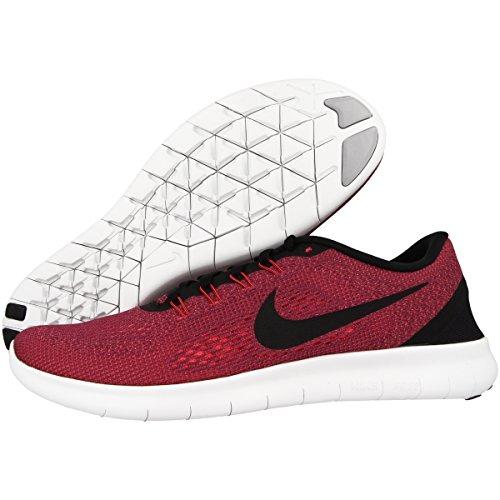 Nike Free Rn Hyper Orange / Noir / Océan Brouillard / Loup Gris Hommes Chaussures De Course