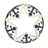 yankee candle jar topper - Yankee Candle Into Port Chrome Anchor & Star Illuma-Lid Jar Candle Topper
