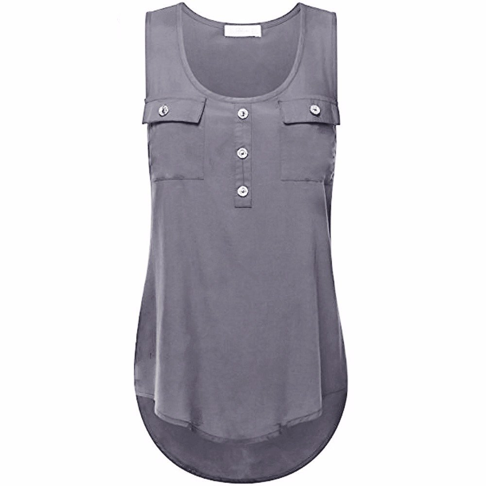 Camisoles of Women Sleeveless Tank Sexy Printed Vest Loose Crop Top Camis Blouse Gray