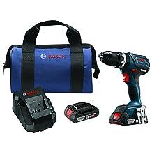 "Bosch HDS183-02 18V EC Brushless Compact Tough 1/2"" Hammer Drill/Driver Kit"