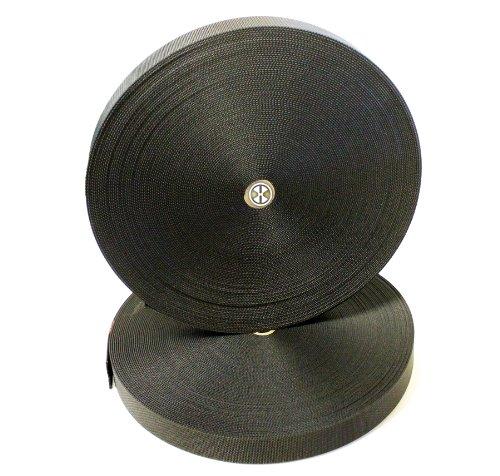 1-1/2 Inch Heavy Nylon SCUBA Webbing 5 Yards (180inch/15ft) Length (Black)