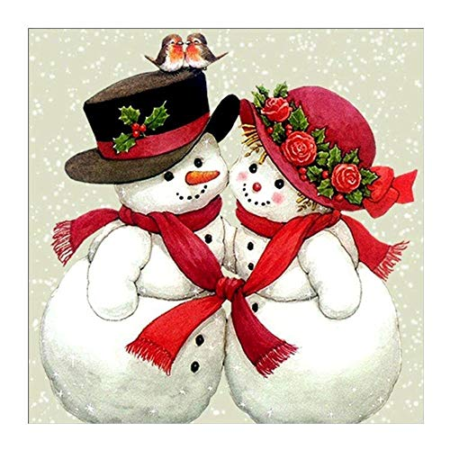 TTKJ DIY 5D Diamond Painting Mosaic Christmas Couple Snowman Stitch Partial Drills Embroidery Gift
