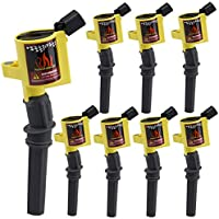 Big-Autoparts 8 Pack High Energy Ignition Coils Curved...