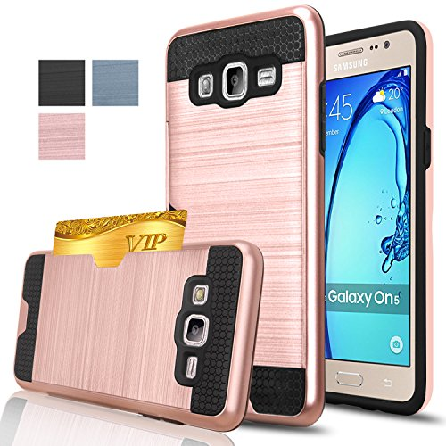 Samsung Galaxy On5 Case, AnoKe [Credit Card Slots Holder][Not Wallet] Hard Silicone Rubber Hybrid Armor Shockproof Protective Holster Cover Case...  samsung on5 phone cases | 5 DIY Phone Case Designs  – How To Make Slime, Pusheen, Piano, Map and Studded Phone Covers 51u3yEm1RnL