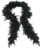 Neuer Frauen Federboa Fluffy Gepäck Schals Abendkleid Partei-Kostüme Black