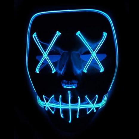 HIGHTec - Máscara de Halloween con luz LED, máscara de ...