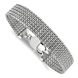 ICE CARATS 925 Sterling Silver Link Mesh 7.5 Inch Bracelet Fancy Fine Jewelry Ideal Gifts For Women Gift Set From Heart