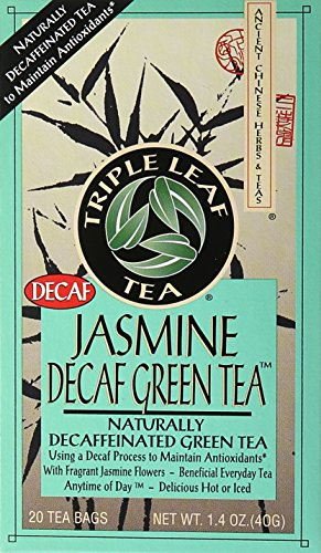 Triple Leaf Tea Jasmine Green Tea, Decaffeinated, 20 Count